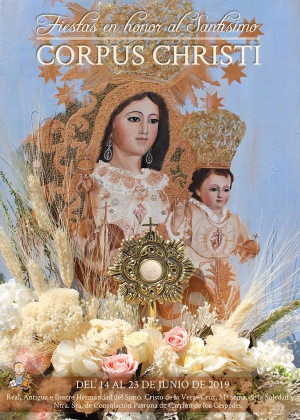 Cartel de las Fiestas del Santísimo Corpus Christi 2019 de Carrión de los Céspedes
