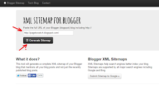 How to generate and update blogger sitemap