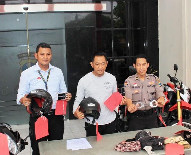 Polisi Gadungan Rampas Motor Diringkus Polrestabes Surabaya
