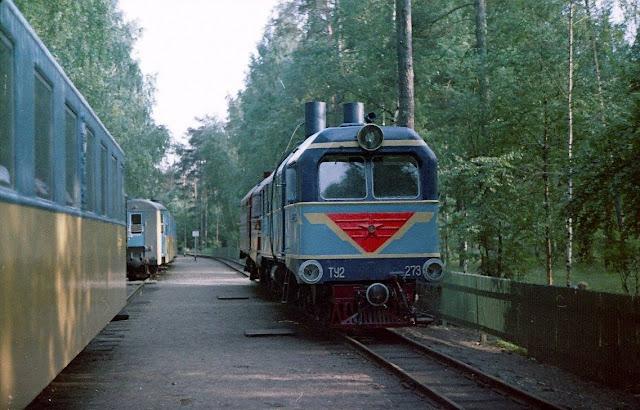 рижская детская железня дорога в Межапарке