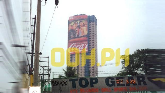 Coke Regalia Spectacular Billboard on EDSA 2001