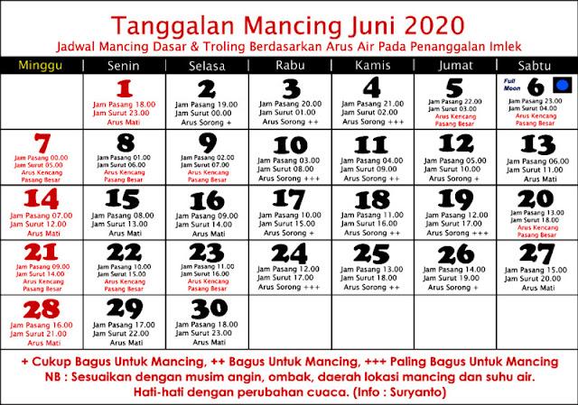 KALENDER MANCING JUNI 2020