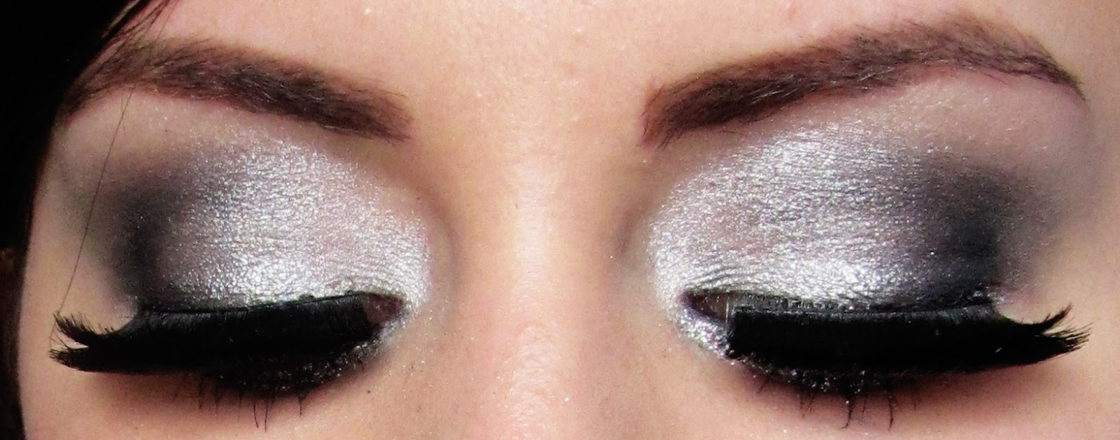 Kittenmoustache Tutorial Silver Smokey Eye