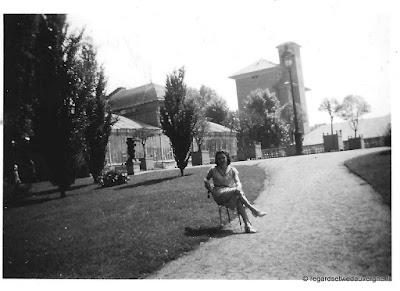 Photo ancienne noir et blanc : Vichy 1950