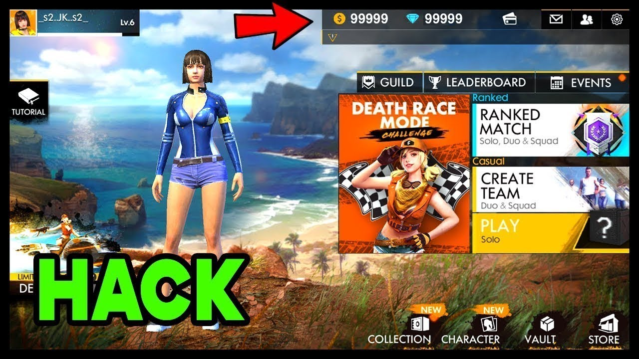 CETON LIVE/FF FREE FIRE HACKS 2019 - GET DIAMONDS AND COINS FOR FREE