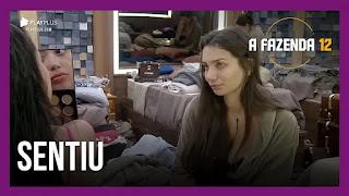 A Fazenda 12 – Stéfani chora com Mirella – Mariano e Jojo conversam