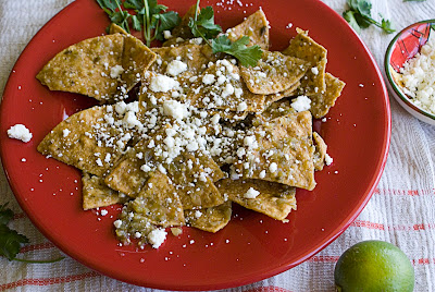 Chilaquiles (Tortilla Chips in Green Salsa)