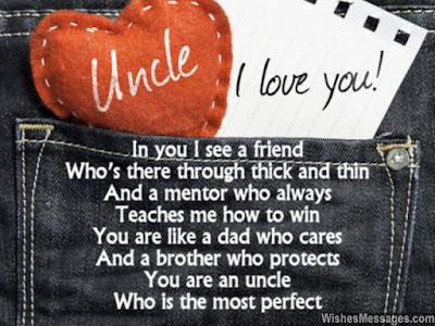 Happy Birthday wishes quotes for uncle:  in you i see a friend who's there through thick and thin