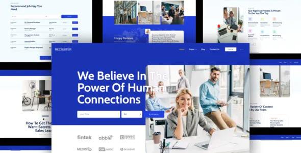 Best Human Resource & Recruitment Agency Template Kit