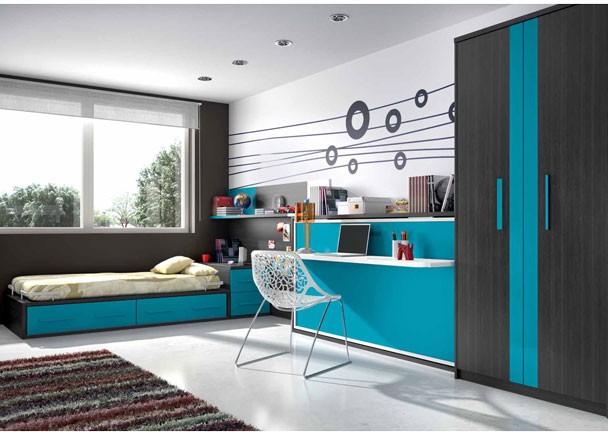 Dormitorios juveniles economicos - Mesas de estudio abatibles ...