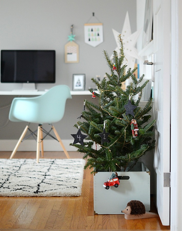 La casa de una famosa deco-blogger en Navidad