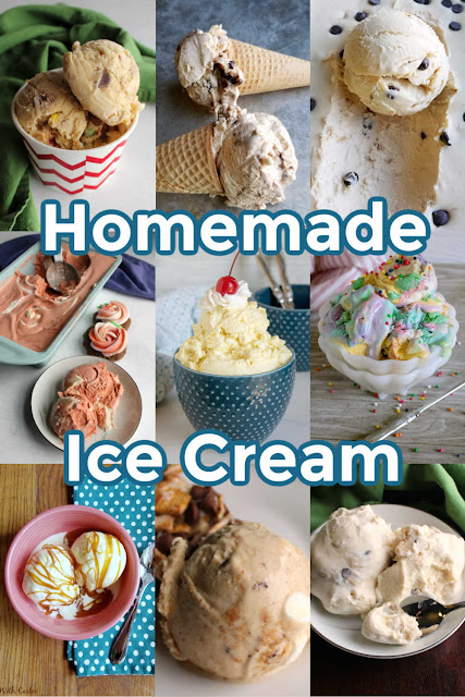 Ice cream is the perfect summertime treat. It cools you off and tastes amazing.  I'm sharing some of our favorite recipes for homemade sherbet, ice cream and no churn ice cream with you for your inspiration and enjoyment!