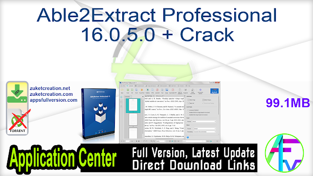 Able2Extract Professional 16.0.5.0 + Crack