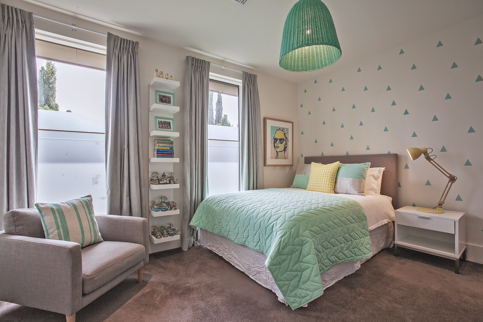 amazing gray green teen bedrooms | Little Liberty: Fresh Mint
