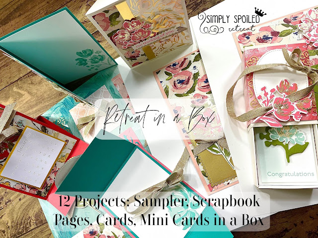 Retreat in a Box Jan 2020.  RSVP by Dec 27.  $90 includes shipping, over $50 in merch, bag, gifts, pdf tutorials!  Using the Art Gallery Bundle by Stampin' Up!.  #StampTherapist #StampinUp