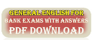 General English For Bank Exams with Answers PDF Free Download