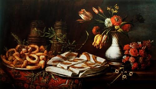 Tommaso Realfonso, Natura morta con dolciumi e fiori