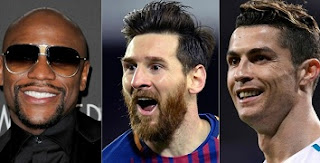 Mayweather, Messi, Ronaldo are the athletes-paid sports/stars of the decade 2010s.