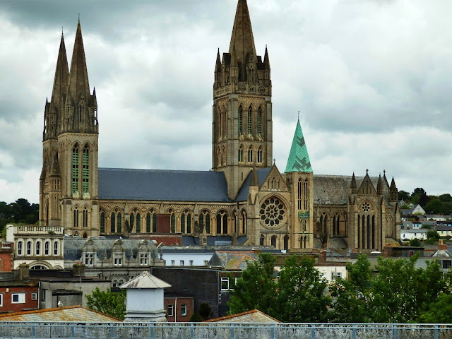 Truro Cathedral, four spires, Cornwall
