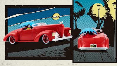 San Diego Comic-Con 2021 Exclusive DC Comics Batman 1st Appearance Batmobile by Hot Wheels x Mattel