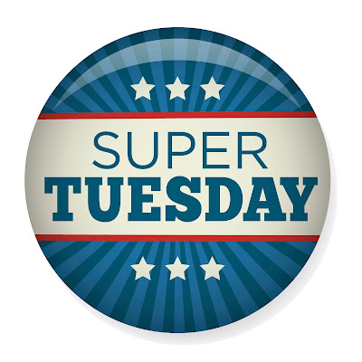 button that reads super tuesday