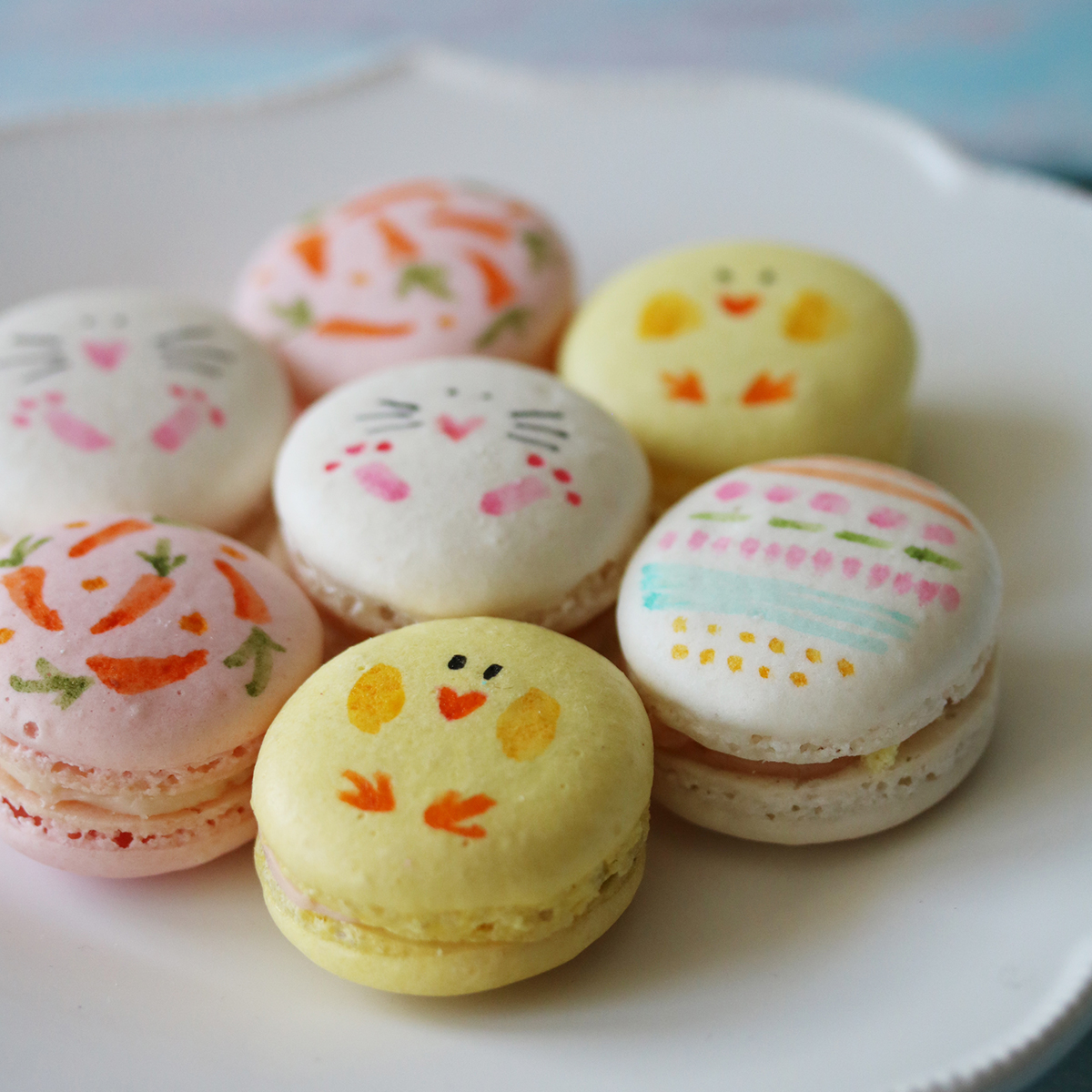 diy sweet ideas for entertaining and favors - painted macarons | Lorrie Everitt Studio