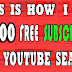THIS IS HOW I GOT OVER 1200 FREE SUBSCRIBERS FOR MY YOUTUBE CHANNEL