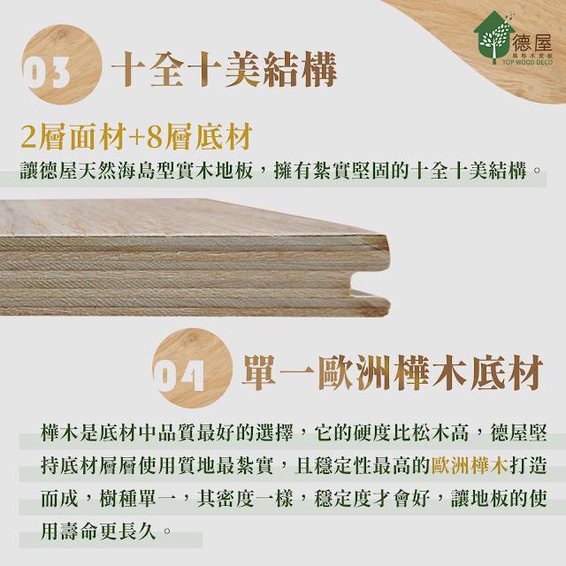 德屋天然木地板特色|十全十美結構/歐洲樺木底材