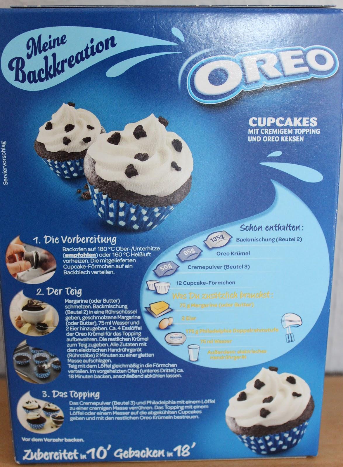 Susis Susse Backwelt Backmischung Im Test Milka Oreo Cupcakes