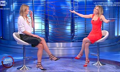 Francesca Fialdini con Francesca Piccinini pallavolista da noi a Ruota Libera 16 maggio