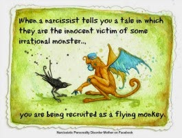 Flying Monkey with Narcissistic Mother Recruiting Flying Monkeys by Playing the Victim Quote by Gail Meyers