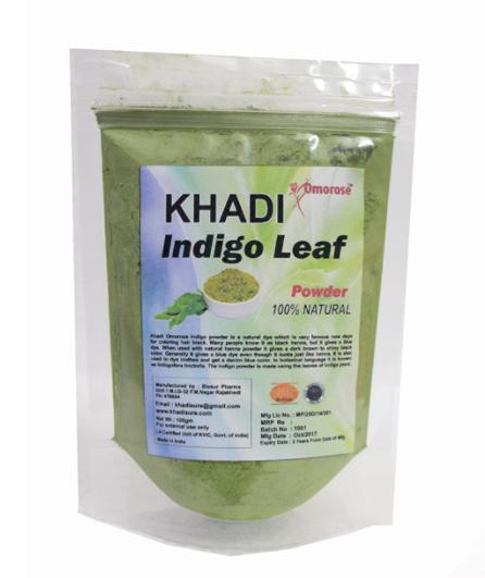 Khadi Omorose Indigo Leaf Powder, 100 gm