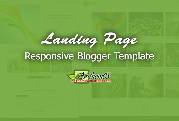 Landing Page Responsive Blogger Template Preview