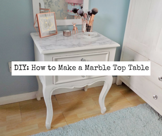 Victoria's Vintage How to make a Marble Top Table