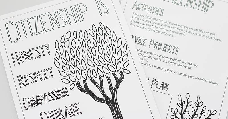 Free Printable Citizenship Activities For Kids Families Sunny
