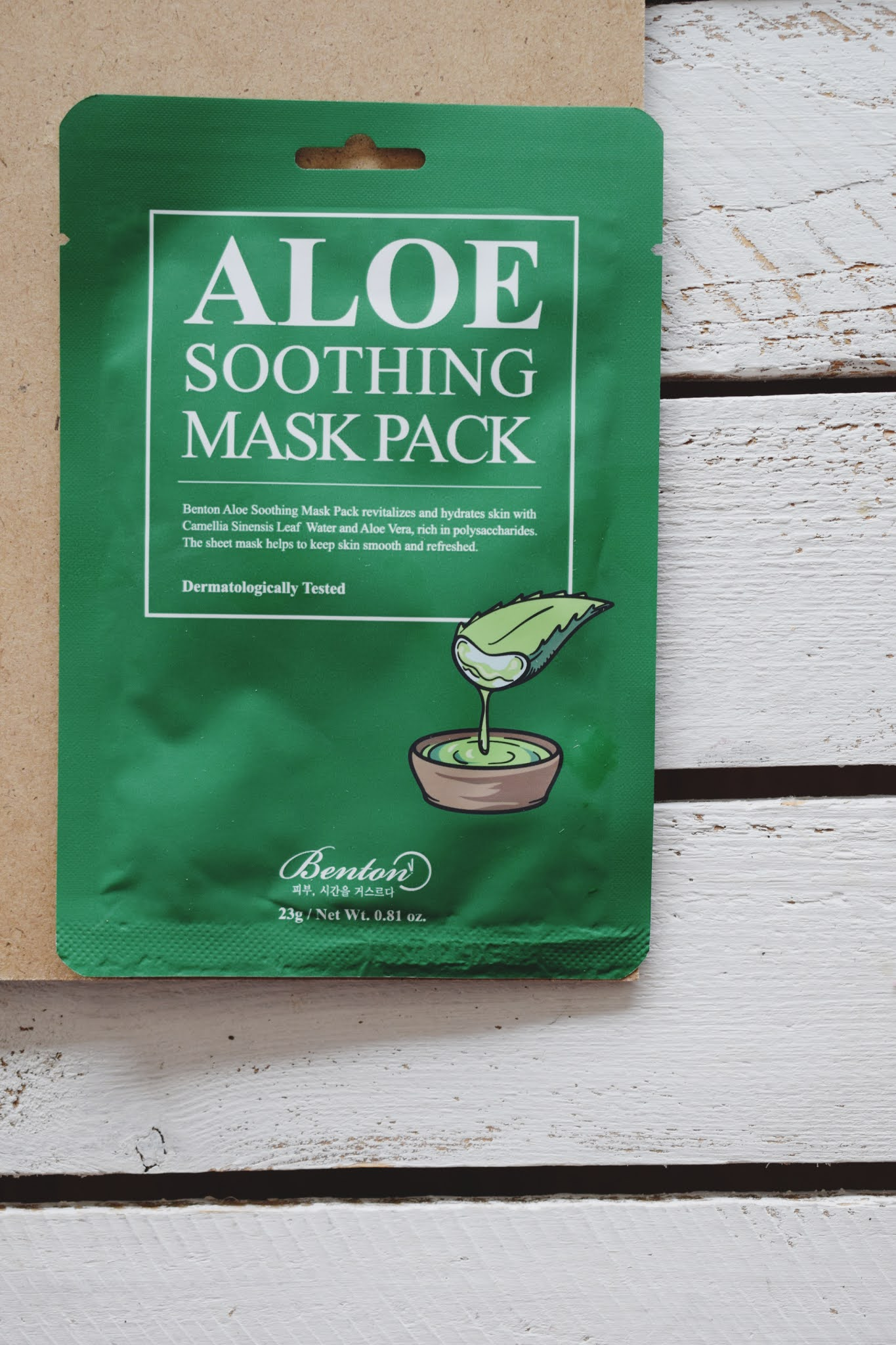 benton, aloe soothing mask pack
