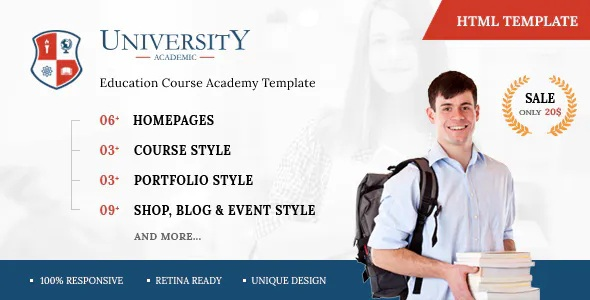 Best Education Course Academy HTML Template