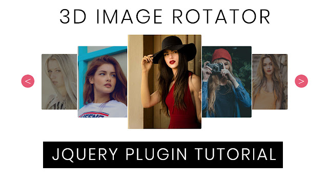 3D Image Rotating slider using Jquery | Jquery Plugin Tutorial