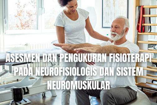 """Asesmen dan Pengukuran Fisioterapi Pada Neurofisiologis dan Sistem Neuromuskular Asesmen Neurofisiologis Pada neurofisiologis asesmen atau pengukuran yang digunakan adalah :  Modified Ashworth Scale Modified Ashworth Scale adalah alat objektif untuk mengkaji keparahan spatisitas. Melibatkan pergerakan tungkai secara manual melalui rentang untuk meregangkan kelompok otot spesifik. Resistensi yang dialami selama peregangan otot pasif dinilai pada skala ordinal 5 titik dari 0 hingga 4, dengan 0 mewakili tonus normal dan 4 menggambarkan spastisitas berat.  Pendulum Test Pendulum Test atau tes pendulum adalah asesmen untuk spasitas. Tungkai bawah subjek memanjang hingga ekstensi penuh pada lutut pada posisi duduk. Pemeriksa kemudian membebaskan ekstremitas dan memungkinkannya untuk menggantung bebas. Tungkai mengayun seperti pendulum sebelum gerakan dikurangi oleh sifat viskoelastis tungkai. Hipertonisitas dikaji dengan mengukur perbedaan angular antara fleksi lutut maksimal dan sudut fleksi pada lutut pertama arah kebalikan pertama ke arah ekstensi dalam mengayun.  Tendon Reflexes Tendon Reflexes atau refleks tendon adalah Peregangan ringan aktivitas otot gelendong neuromuskular, yang mengirimkan pesan listrik ke medula spinalis melalui gelendong otot besar aferen, membangkitkan neuron motor dan mengakibatkan kontraksi peregangan otot.  Sistem Neuromuskular Pada sistem neuromuskular asesmen atau pengukuran yang digunakan adalah :  Electromyography Electromyography atau elektromiografi adalah proses merekam aktivitas listrik otot melalui penggunaan jarum atau permukaan elektroda.   Nah itu dia tadi bahasan dari asesme dan pengukuran fisioterapi pada neurofisiologis dan sistem neuromuskular. Melalui bahasan diatas bisa diketahui mengenai apa saja asesmen dari neurofisiologi dan sistem neuromuskular. Mungkin hanya itu yang bisa disampaikan di dalam artikel ini, mohon maaf bila terjadi kesalahan di dalam penulisan, dan terimakasih telah membaca artikel ini.""""God Bless and Pr"""