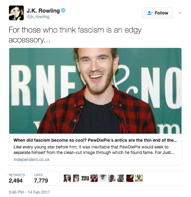 JK Rowling tweet in necunostinta totala de cauza