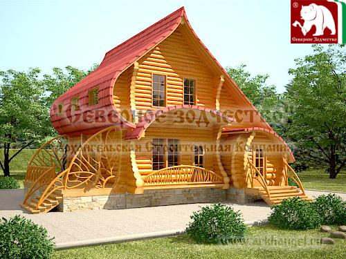 Unusual log house designs kerala home design and floor plans for Wooden home plans