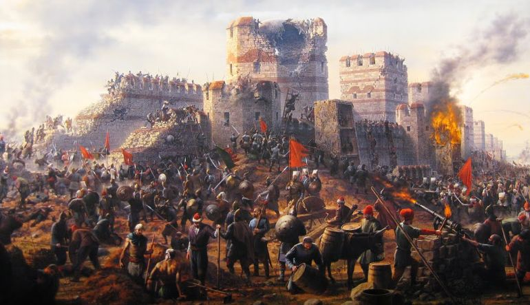 The fall of Constinople by Ottoman muslims invasion