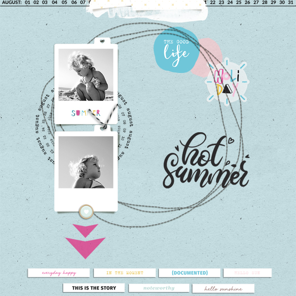 hot summer © sylvia • sro 2019 • augsut stuff by rachel etrog designs & all laid out template by dawn by design