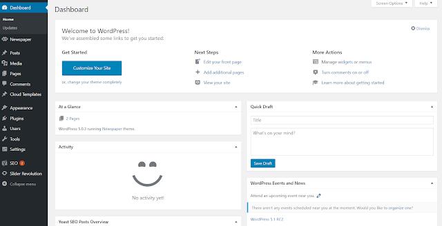 Penampakan dari Wordpress