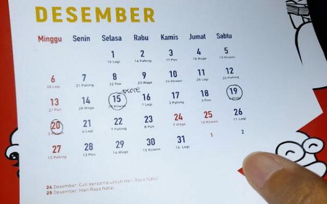 Pemerintah Pangkas Libur Akhir Tahun 3 Hari, 28-30 Desember Tetap Masuk