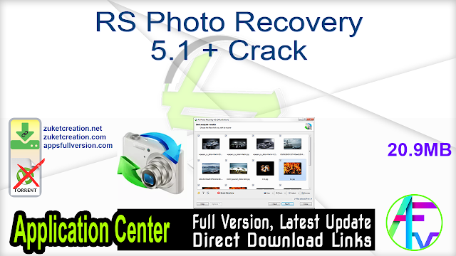 RS Photo Recovery 5.1 + Crack