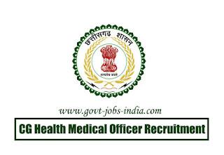 CG Health Medical Officer Recruitment 2020