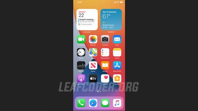 Fitur Terbaru dan Daftar iPhone Update iOS 14 by Leafcoder