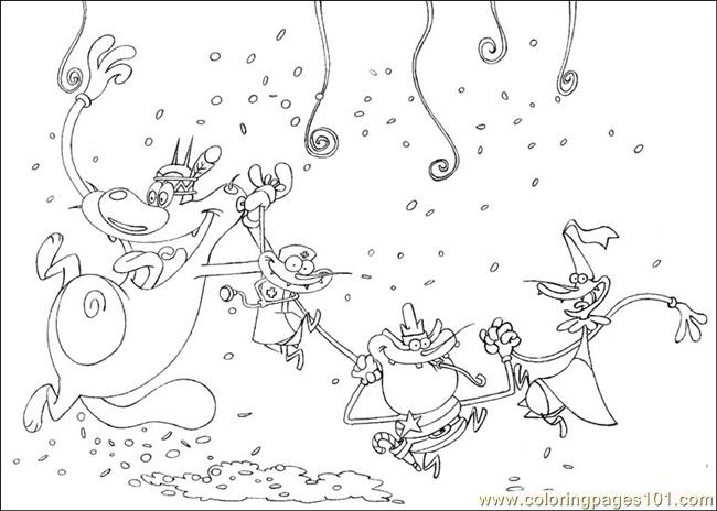 oggy and the cockroaches coloring pages online - photo #33