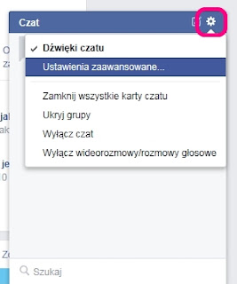 Chat na Facebooku - ustawienia widoczności (prywatności)